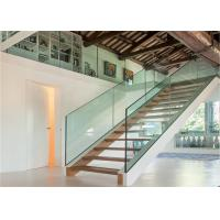 Quality China Side Beam With Handrail Straight Glass Railing Systems for sale