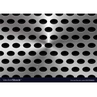 Quality Galvanized Perforated Metal Sheet / Punching Metal Panel Width Customized for sale