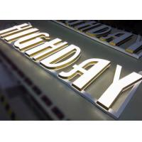 Quality Backlit Letter Signs 3D Illuminated Acrylic With 12V Output Power Supply for sale