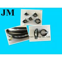 China Heavy Duty Black Rubber Pipe Clamp , 2 Inch Wall Mount Pipe Clamp / Fasteners on sale