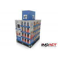 Corrugated Cardboard Pallets Display Shelves , Retail Cardboard Shop Displays