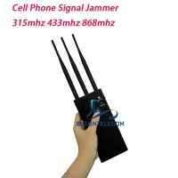 Quality 3 Bands 100m 433mhz 868mhz Portable Signal Jammer 8000mAh for sale