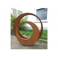 China Contemporary Decoration Sculpture Outdoor Corten Steel 3D Sculptures on sale