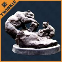 China Morden Black Bear Marble Decorative Sculptures Polished Custom Marble Stone on sale