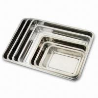 Quality 4.8cm Square Baking Tray, Made of SS 410, with Mirror Polish for sale
