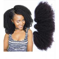 Quality 1B Afro Kinky Curly 100% Brazilian Virgin Hair Bouncy And Soft With Elasticity for sale