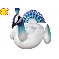 China Peacock Shaped Inflatable Water Floats Giant Ride On Inflatable Pool Lake Beach Float on sale