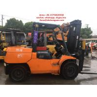 Quality 4 Wheel Used Diesel Forklift Truck , 5 Ton Diesel Operated Forklift 2013 for sale