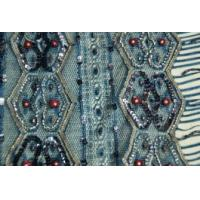 China Sequin applique clothing beaded patch on sale