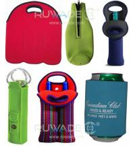 China Neoprene wine beer bottle cooler holder tote,2 pack,6 pack,with handle or zipper,slap cooler koozie on sale