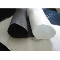 Quality White PTFE Coated Alkali / Non-Alkali Filter Fabric Roll 330 - 900gsm woven roving plain cloth for sale