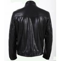 China PU  Black and Plus Size, Big and Tall , Cool Designer Thick Leather Jacket for Mens on sale
