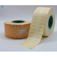 Quality Red Hot Stamping Cork Tipping Paper With Mint Sweeteners For Tea Cigarette Filter Rod Packaging for sale