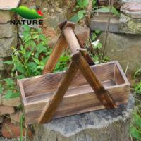 Quality Wood product » Wood planter & pot » Wooden Rectangular Shaped Outdoor Planter for Flower for sale