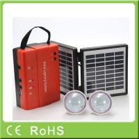 Quality Wholesale 3.4W 9V lead acid battery portable mini power solar home lighting system for sale