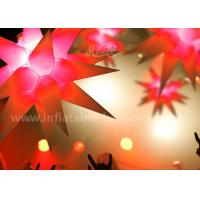 Quality 1.5m Star Shaped Inflatable Lighting Balloon For Ceiling Hanging Decoration for sale