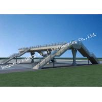 Quality Modern Structure Prefabricated Pedestrian Bridges Temporary Usage European Standard for sale