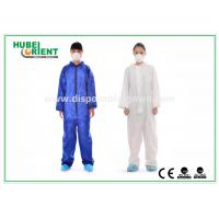 Quality Protective Safety Blue Disposable Coveralls for Men , Eco Friendly Durable for sale