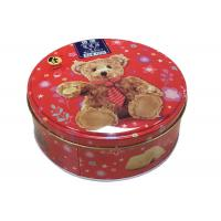 Quality Fantastic Pattern Biscuit Tin Box , Danish Butter Small Round Tin Containers With Lids for sale