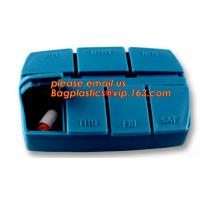 Quality pill case with date letters,Hot Sale medicine box,Plastic 7 Days Pill Box, Cute Round Plastic Weekly 7 Days Pill Box for sale