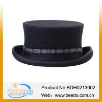 China Wool Felt Black Plug Silk Top Hats Wholesale on sale