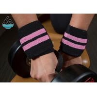 Quality Super Heavy Pink Weight Lifting Wrist Straps Powerlifting With Mutifunction for sale