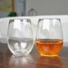 Quality 500ml Transparent Stemless Whiskey Tumbler Glasses , Wine Glass Tumbler for sale