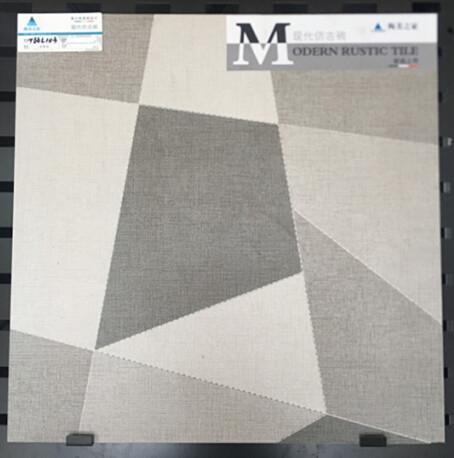 Buy 600x600mm Inkjet Ceramic Tile In Bathroom , Custom Made Grey Ceramic Floor Tile at wholesale prices