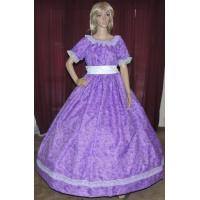Quality Wholesale CIVIL WAR VICTORIAN DICKENS SOUTHERB BELLE SASS Purple Print Costume Dress Gown for sale