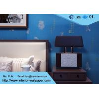 Blue Carton Chinese Style Non Woven Wallcovering Soundproof Wallpaper For Living Room