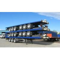 Quality 13m Extendable air suspension 60t Flat Bed Semi Trailer for transporting 20ft 40ft 45ft for sale