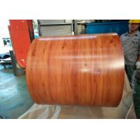Quality Wooden Grain Color Coated Steel Coil For Department Store Roofing Tiles for sale