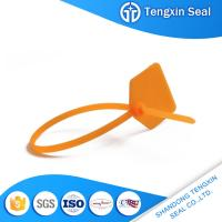 China TX-PS108 Factory direct price raw material plastic safety 300mm lock seal logo markable red/yellow/green on sale