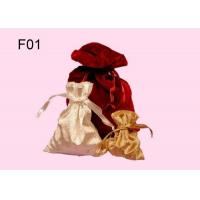 Quality Colorful Gift Pouch, Customized Design Velvet Jewelry Pouch  With Drawstring for sale