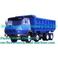 China Blue 290hp Unloading Heavy Duty Dump Truck 8 x 4 , 50 Ton Trucks wholesale