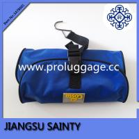 Blue pvc surface mens hanging travel toiletry bag