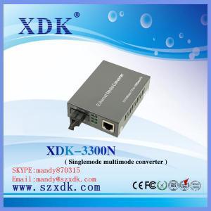 Quality Multimode 10 / 100 / 1000M Optical Fiber Media Converter for sale