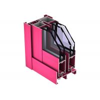 Quality High Strength Smooth Aluminum Door Profile Alkali Resisting ISO9001 Certification for sale