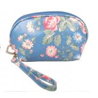 China Custom PVC Leather Cosmetic Bag ,  SGS Stylish Makeup Bag For Girls on sale
