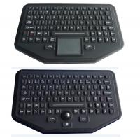Quality Stand Alone Industrial Illuminated Keyboard With Trackball Black Color for sale