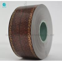Quality Transfer Brown Cork Tipping Paper With Words Logo Design , Tobacco Filter Paper 36gsm for sale