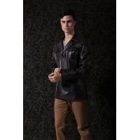 Buy Custom Colors /Size PU Suit Warm Lining  Mens Leather Suits With OEM Service at wholesale prices