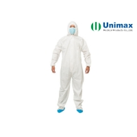 Quality Breathable EN14126 Disposable Protective Coveralls COVID -19 Resistant for sale