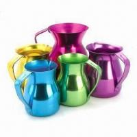 Quality Colorful Aluminum Coffee Pots, Available in Different Colors for sale