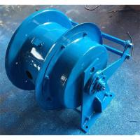 China 50m Metal Garden Hose Reel Spring Loaded Horizontal Coiling Installation Pattern on sale