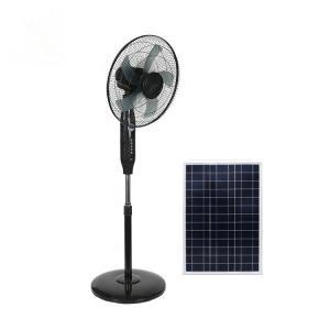 Quality Black 16in 24000mah Remote Control Pedestal Fan Copper Motor for sale