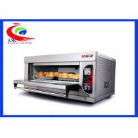 Quality Commercial Break Bakery Equipment Electric Selling Pizza Oven  With One Deck Double Pans for sale