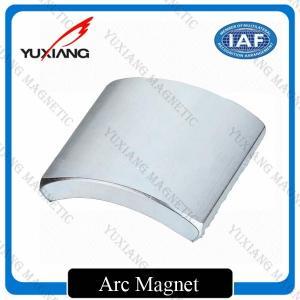 Quality Rare Earth N38 Neodymium Arc Magnets Sintererd NdFeB Durable For Motor for sale