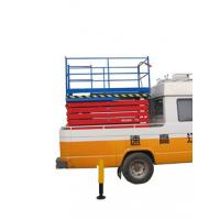 China Mechanical Truck Mounted Scissor Lift , Truck Mounted Boom Lift for Rail Way on sale
