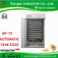Buy commercial incubator 1848 chicken incubator egg hatcher couveuse automatique incubator (KP-15) at wholesale prices